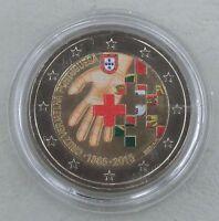 2 Euro Portugal 2015 150 Jahre Rotes Kreuz in Farbe unz