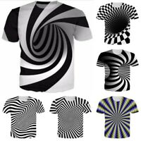 Hypnosis Whirl Funny 3D Print Mens Womens Casual T-Shirt Short Sleeve Tee Tops