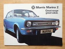 MORRIS MARINA 2 RANGE 1976 UK Mkt Sales Brochure - 3160/A