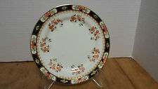 "Vintage Phoenix China 7 1/8"" Dessert Plate England Orange and black Halloween"