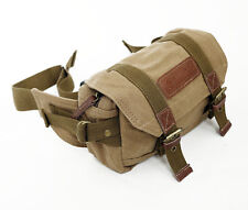 Light vintage canvas waist camera bag for EVIL camera film camera Compact DC
