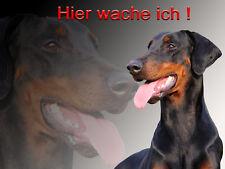 Dobermann Alu A5 Warnschild DB5