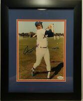 Willie Mays Signed Mets 13x16 Custom Framed Photo Display JSA COA