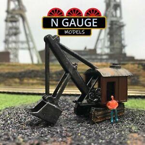 N Maßstab Spur Dampf Schaufel 1:148 Digger Bagger Vintage Eisenbahn 1:160