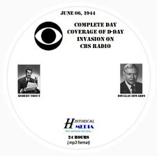 D-DAY: COMPLETE DAY COVERAGE FROM CBS RADIO - Old Time Radio MP3 Format OTR 1 CD