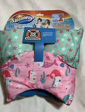 Swimways Swim Trainer Life Jacket Child 30-50lbs New Pink And Green