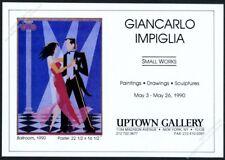 1990 Giancarlo Impiglia Ballroom dancing dance NYC gallery show vintage print ad