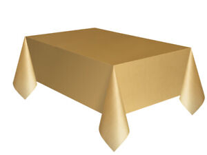Plain Disposable Table Cover Gold Events Catering Party Wedding Birthday School