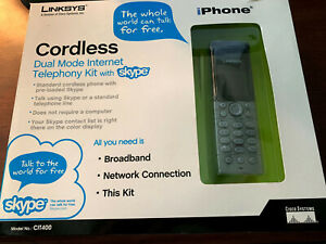 Linksys CIT400 Cordless Dual Mode Internet Telephony Kit With Skype - in box