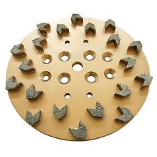 "10"" 25/30 Arrow Diamond Concrete Grinding Head Disc Plate for Edco Floor Grinder"
