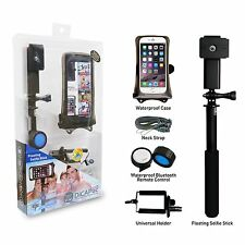 """DiCAPac Action DRS-C2 Set - Remote Selfie Stick mit Smartphone Case 5,7"""" Bundle"""