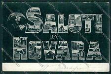 Novara città Saluti da cartolina QQ5154
