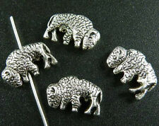 50pcs Tibetan Silver 2Sides 3D Bison Spacers Jewelry DIY 16x10x4mm 9250