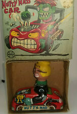 1960'S MARX TOYS NUTTY MAD FRICTION CAR *WITH BOX* WORKING *NICE*