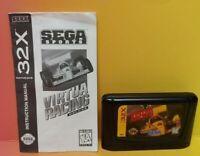 Virtua Racing Deluxe & Manual Sega 32X Genesis Sega Rare Tested Rare Game