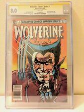 WOLVERINE #1 SIGNED BY STAN LEE LEN WEIN Chris Claremont Frank Miller SS CGC 8.0