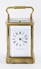 French 8 day repeating carriage clock @ 1890 Excellent restored working