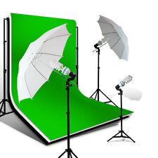 Lusana Photo Umbrella Light 10'x12' Black White Green Chroma Key Backdrop Kit