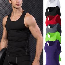 Men's Compression Vests Dri fit Training Gym Tank Tops Sleeveless Spandex Shirts