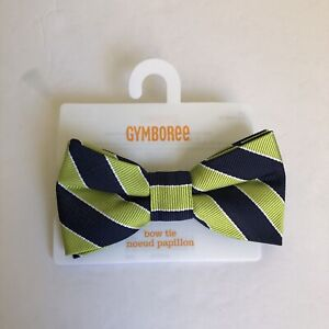 Gymboree Boys Bow Tie 2T-5T Navy Blue Lime Striped NWT New