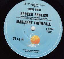 MARIANNE FAITHFUL Broken English / (Remixed & Extended Version) 45   SirH70