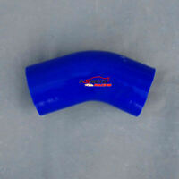 ID 3''inch 76mm 45 Degree Silicone Elbow Hose Turbo Intercooler Pipe BLUE