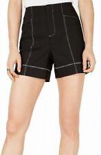 INC Womens Shorts Black Size 6 Contrast Stitch High Waist Zipper-Fly $54 179