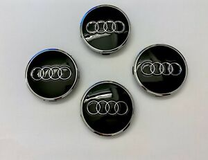 4x Audi Radnabendeckel 69mm schwarz Nabenkappen Felgendeckel A3 A4 A6 Q3 Q5 TT