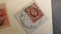 OLD SCOTLAND GB POSTAL HISTORY, SCOTTISH POSTMARK OF RHYNIE G5 1935