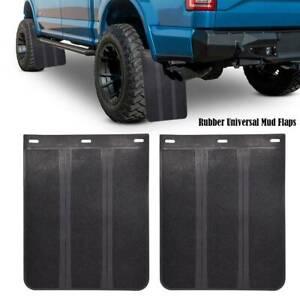 Mud Flaps Splash Guards Car Truck Pickup Universal Body Fender Heavy Duty Rubber