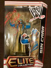 WWE Mattel SIGNED Elite 15 Original Sin Cara Figure Mistico RARE