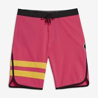 "Hurley Big Kids' (Boys') Phantom Block Party 17"" Boardshorts - Hyper Pink"