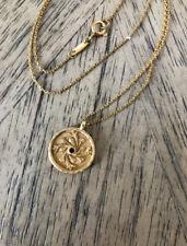 Satya Jewelry Gold Plated Necklace, January Stone, Carnation Flower Pendant