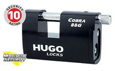 High Security Padlock w/ 3 Keys. Strong padlock, it is made from hardened steel!