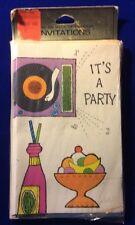 Vintage It's A Party Invitations.Unopened, 1960's? 10 Invitations With Envelopes