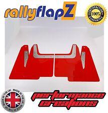 rallyflapZ SUBARU FORESTER STi (04-08) 2nd Gen Mud Flaps Red Plain 4mm PVC
