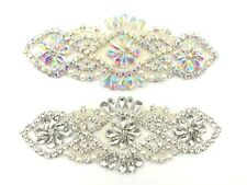 Beautiful Rhineston Patch hand Sewing Iron on Bridal Dress Belt Clothes Applique