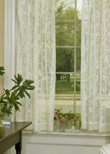 "Heritage Lace IVORY COVENTRY Curtain Panel with Trim 45""Wx63""L"
