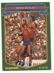 SCANLENS AFL 1985 - No. 57 - Bernie Quinlan - Fitzroy