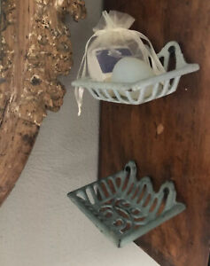 Antique Metal Soap Dishes (2)