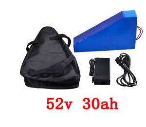 52V 30AH E-Bike Samsung Lithium Battery Pack 52V 1560 watt hours Triangle 2000W