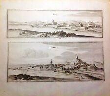 FRANCIA/ FRANCE,Rue, Rethel. Matthäus Merian, 1657