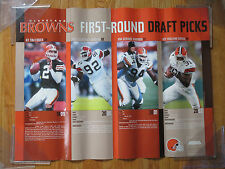 2002 CLEVELAND BROWNS 1st Round Draft Picks Poster TIM COUCH COURTNEY BROWN