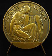 Medalla Albi Catedral Santa Cecile de Roma c1950 Crouzat religiosa medal