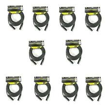 10 SuperFlex GOLD Standard Duty 25' Soft Lat Flat XLR Microphone Cable SFM-25-SD