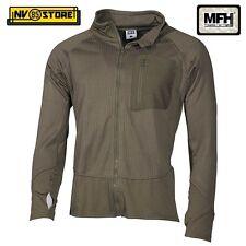 Maglia Felpa Termica Tattica MFH Underwear Level 2 GEN III Caccia Militare OD