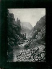 Vintage Mounted Photo - Platte Canon near Colorado Springs, CO