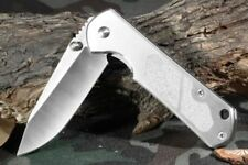 SANRENMU 7010LUC-SA 710 Stainless Steel Pocket EDC Folding Knife IN STOCK Silver