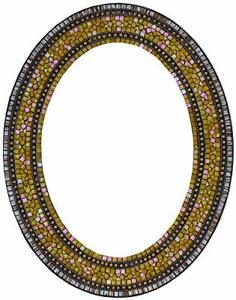 Zorigs Mirror Wall Art Décor – Handcrafted Decorative Wall Mirror, Yellow, Gold