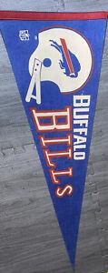 1970s EARLY VINTAGE NFL FOOTBALL BUFFALO BILLS LARGE PENNANT 2 Bar Helmet VTG